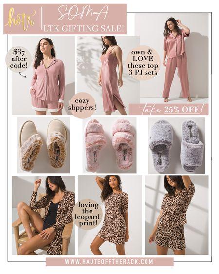 Take 25% off everything including sale @SOMA! #pajamas #pinkpajamas #satinpajamas #nightgown #giftsforher #LTKDay #slippers #leopardprint #leopardprintpajamas #sleepshirt  #LTKsalealert #LTKGiftGuide #LTKSale
