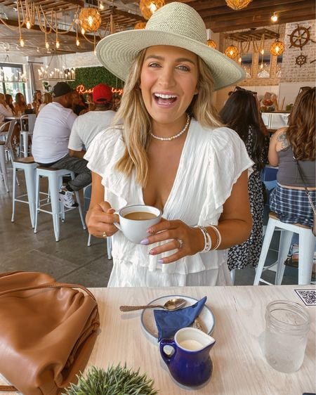 Dress is sold out :(. but available in petite. Linked my bracelets use code AUDREY for 20% off! And linked similar necklace. Hat is from company called Olive & Pique http://liketk.it/3gLAk @liketoknow.it #liketkit #LTKshoecrush #LTKunder50 #LTKsalealert