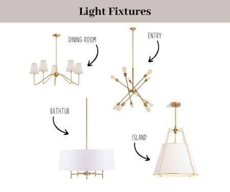 Light fixtures for our house! Kitchen, dining room, entry and master bath lights.   #LTKsalealert #LTKhome