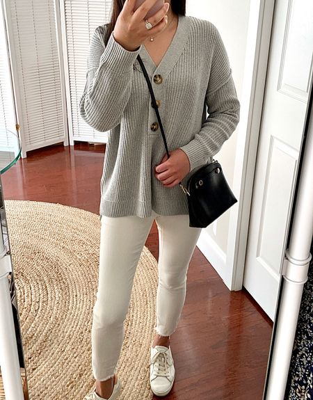 This henley sweater comes in a few colors. Size XS is a relaxed fit on me.   #LTKstyletip #LTKSeasonal #LTKunder50