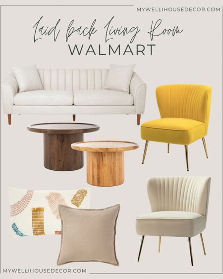 Laid back living room with Walmart , couch, nightstand, decorative pillow, coffee table  #LTKSeasonal #LTKsalealert #LTKhome