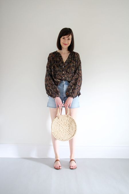 If Friday was a pair of shorts it would have to be denim cutoffs, right?   Top old Dôen  Shorts Dee High Rise by AGOLDE (TTS wearing a 27)  Sandals by Jenni Kayne TTS and great for narrow feet.   Circulo Tote by Artisan & Fox    #LTKSeasonal
