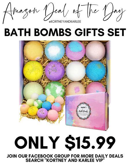 Amazon Deal of the Day!! Only $15.99 for this set of 12 bath bombs! Great Christmas present idea!  Amazon daily deal | amazon deal | amazon beauty | amazon finds | amazon favorites | amazon lightening deal | Kortney and Karlee | #kortneyandkarlee @liketoknow.it #liketkit  #LTKunder50 #LTKunder100 #LTKsalealert #LTKstyletip #LTKSeasonal #LTKhome