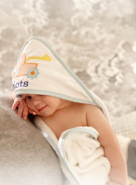 The kids got fresh personalized bath towels from @3Marthas and I can't handle the cuteness. They love having their own bath towel!   #LTKbaby #LTKbump #LTKGiftGuide