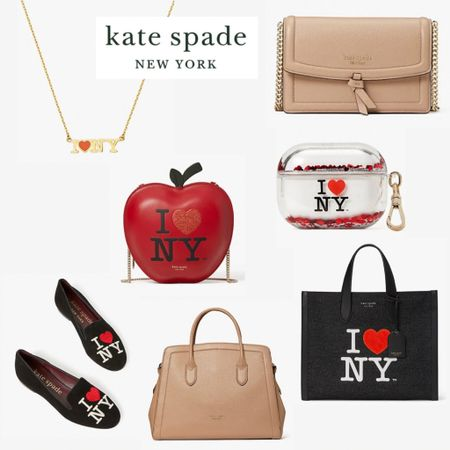 """Kate Spade rolled out an """"I❤️NYC"""" collection and it is adorbs! Linked some of my faves plus the nude bag that works for all occasions! 😍  #LTKshoecrush #LTKunder100 #LTKitbag"""