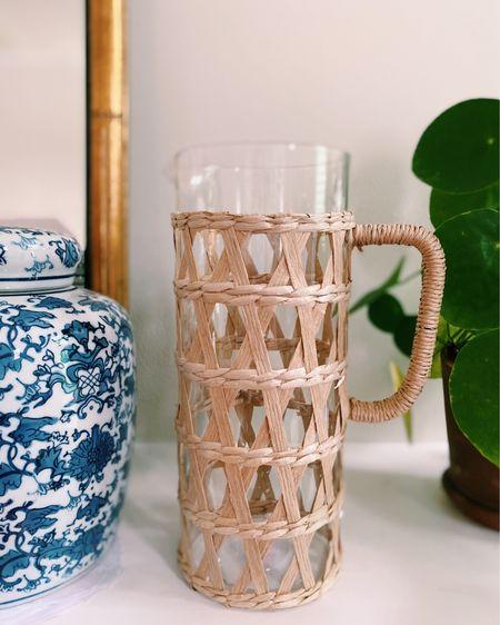 Loving this woven rattan pitcher! http://liketk.it/3cZyz #liketkit @liketoknow.it