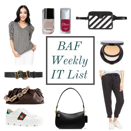 The weekly IT list is here! 💃🏻 Talking about what's hot right now on the blog, or shop it all here ❤️❤️❤️  #LTKitbag #LTKshoecrush #LTKbeauty