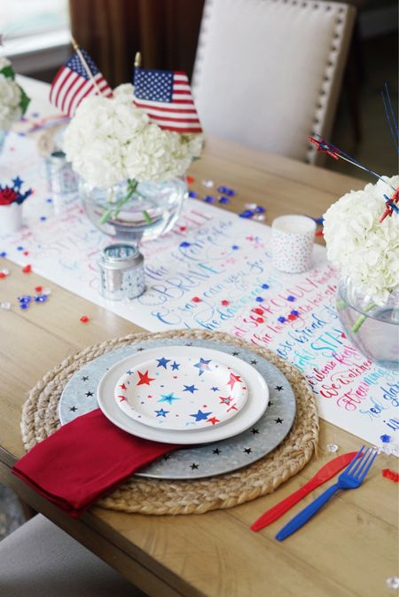 4th of July tablescape!  #competition home decor holiday decorations   #LTKSeasonal #LTKunder50 #LTKhome #liketkit #LTKsalealert @liketoknow.it @liketoknow.it.home http://liketk.it/3iISR