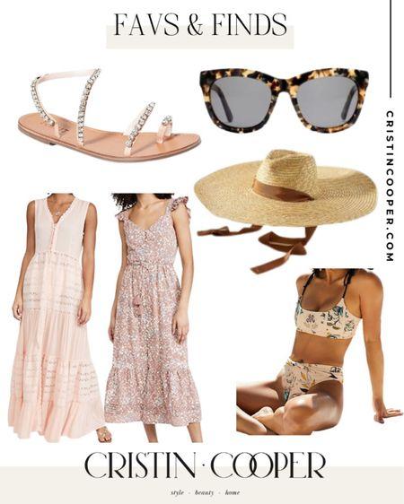 Favs & Finds // Sandals // Sunglasses // Hat // Dress // Bathing Suit http://liketk.it/3gkFP #liketkit @liketoknow.it
