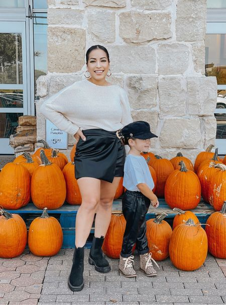 I'm sure we'll make it to a pumpkin Pat h sometime this fall, but for now Whole Foods will do. 🤣 Hailee's little hat is low key giving me #selenaquintanilla vibes. #itsfallyall   #LTKfamily #LTKSeasonal #LTKkids