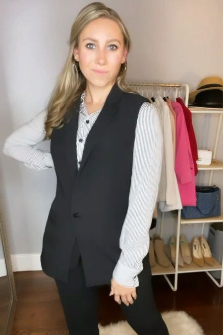 Check out all the ways I styled this sleeveless blazer! Here's how I would wear it to a work meeting! Follow my shop on the @shop.LTK app to shop!   #LTKSeasonal #LTKworkwear