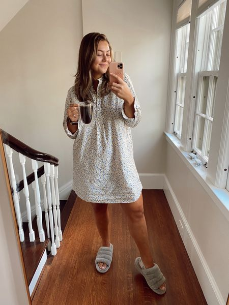 Monday, let's do this. Wearing XL in nightgown for more oversized and comfortable fit   #LTKunder100 #LTKhome #LTKcurves