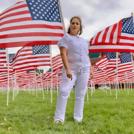 The 🇺🇸 flags 🇺🇸 at the Healing Fields in Sandy, Utah are such a beautiful tribute to those who lost their lives on 9/11.  . There's a flag for every person and each flag has their name and something about them.   . See my stories for more on this beautiful place.  . Download the LIKEtoKNOW.it app to shop this pic via screenshot   . . . #911 #september11 #usa #fashion #fashionista #modestfashion #modeststyle #fallfashion #modestclothing #modest #modestfashionblogger #modestfashionista #fashionable #over40 #styleover40 #over40style #40pluswomen #40plusstyle #lds #ldswoman #thereisbeautyallaround #healingfield #thehealingfield #utah #utahgirl #liketkit @liketoknow.it     http://liketk.it/2EPGU