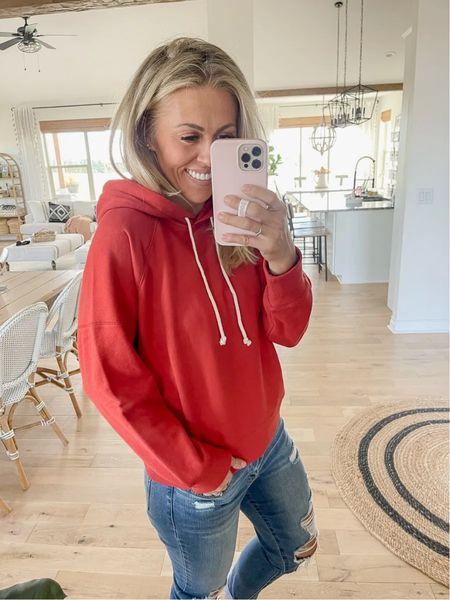 Pullover Hoodie from Walmart  Easy fall outfit idea  $24 Wearing medium  Lots of colors!  #LTKunder100 #LTKunder50 #LTKSeasonal