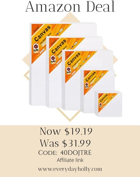 Amazon deal! 🎁🎄🎨  28 Packs Canvas Boards for Painting Canvas Panels Variety Pack, 4x4, 5x7, 8x10, 9x12, 11x14 Inches 100% Cotton with Board Art Supplies for Acrylic Pouring and Oil Painting 40% off Code: 40DOJTRE Art supplies • gifts for artist   #LTKunder50 #LTKGiftGuide #LTKsalealert