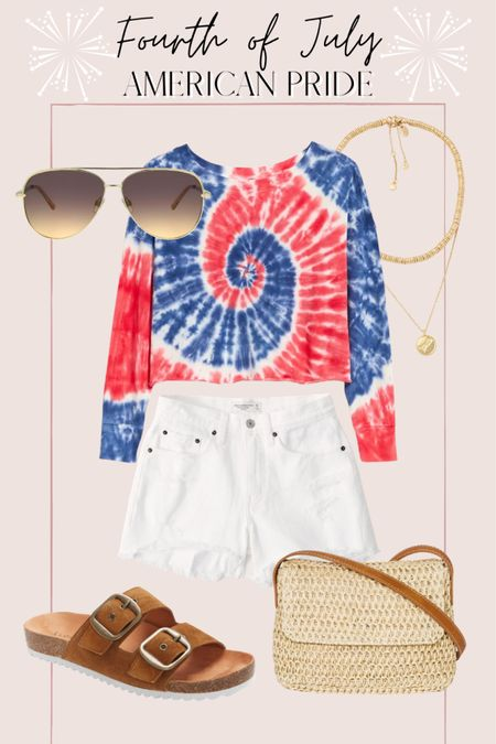 Casual Fourth of July outfit http://liketk.it/3hR1B @liketoknow.it #liketkit #LTKunder50 #LTKunder100 #LTKsalealert
