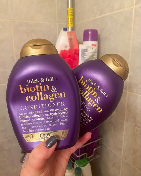 Where are my fine hair queens at? I have a LOT of hair but it's just so fine :/ This OGX combo will make your hair feel thick and full after every shower! http://liketk.it/3exmz #liketkit @liketoknow.it #LTKbeauty