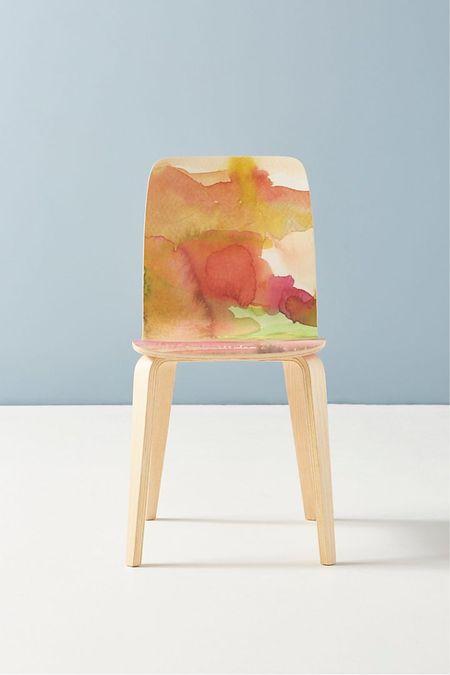 anthropologie watercolor tamsin dining chair  #LTKhome #LTKSeasonal