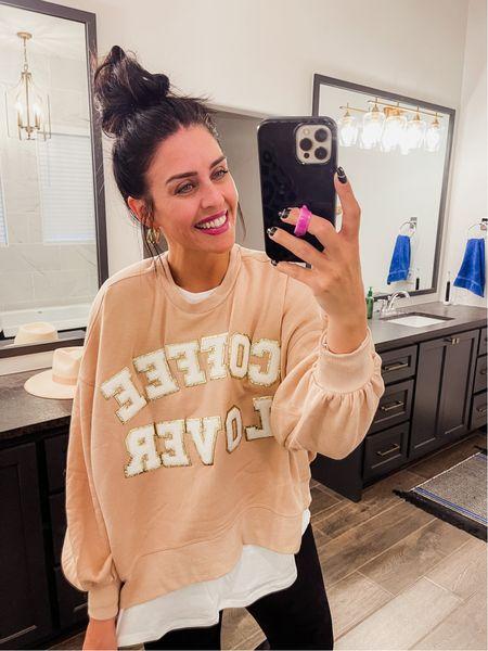 Coffee Lover sweatshirt. Size M. Use code Mollyann   #LTKunder100 #LTKunder50 #LTKGiftGuide