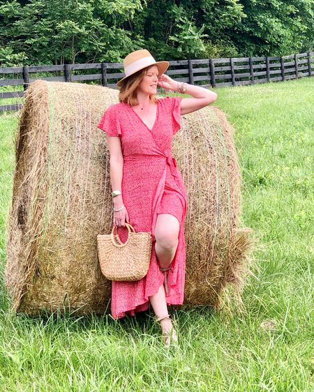Nothing like the fresh air of the countryside to reset and forget. Felt so good to disconnect even if it was for one day only. And this bohemian wrap dress is the perfect summer dress for a countryside outing! Linked here. @liketoknow.it #liketkit http://liketk.it/2RpLT
