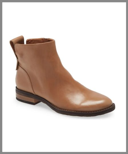 Low leather ankle boot great for staying dry in the fall. in the Nordstrom anniversary sale.  #LTKSeasonal #LTKsalealert #LTKshoecrush