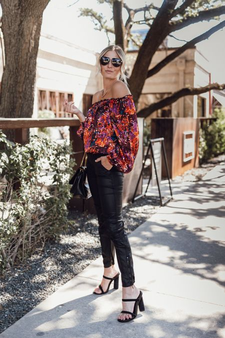 Fall outfit 🖤 obsessed with this colorful fall top   #LTKunder100 #LTKSeasonal #LTKstyletip