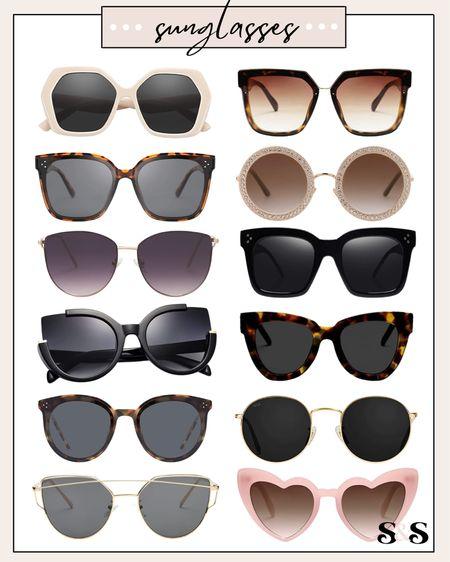 Amazon fashion sunglasses! #amazonfashion #amazon #amazonfinds #sunglasses #beachvacation #summerfashion    #LTKunder100 #LTKSeasonal #LTKunder50