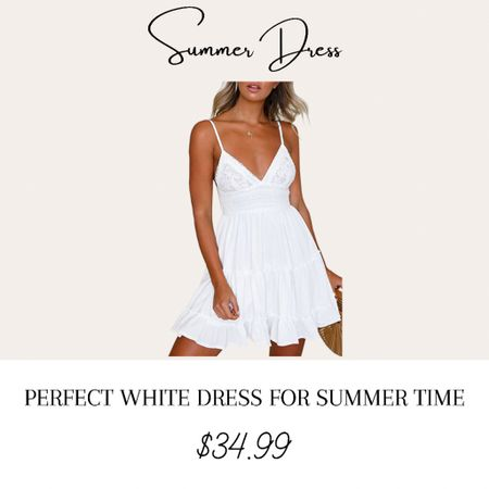 Cute white dress for summer time!   #LTKstyletip #LTKbeauty