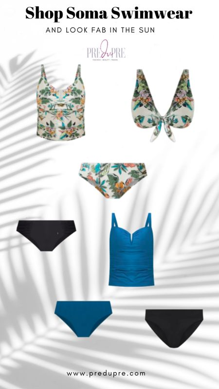 Soma swimwear on sale for 30% off!  Floral bikini set - great for pool or beach!  Mix and match with solid top or bottom.  Add cover up.  Soma Intimates, Soma, swimsuit, Bikini, one piece, romper, cov http://liketk.it/3gWp3 er-up, pool outfit @liketoknow.it #liketkit #LTKsalealert #LTKstyletip #LTKunder50 #LTKunder100 #LTKtravel #LTKswim Download the LIKEtoKNOW.it app to shop this pic via screenshot