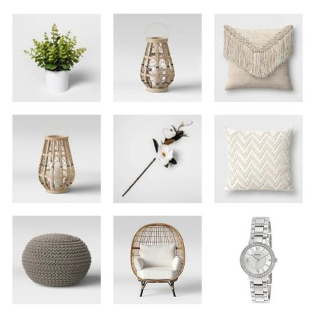 All the spring vibes in these products !! I keep these pillows on my egg chair, they compliment it perfectly ! Also love the faux magnolia branches & faux plants to brighten up a room. This foot poof is in my favorite we have one by my egg chair and one in the living room. Love this watch!! Silver and neutral, it can dress up so many outfits . #liketkit #LTKstyletip #LTKSeasonal #LTKhome @liketoknow.it @liketoknow.it.home http://liketk.it/39LDO Shop your screenshot of this pic with the LIKEtoKNOW.it shopping app