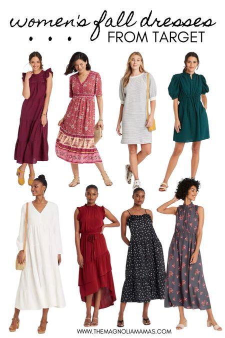 Cute dress options for fall! 🤎  #LTKstyletip #LTKunder50 #LTKworkwear