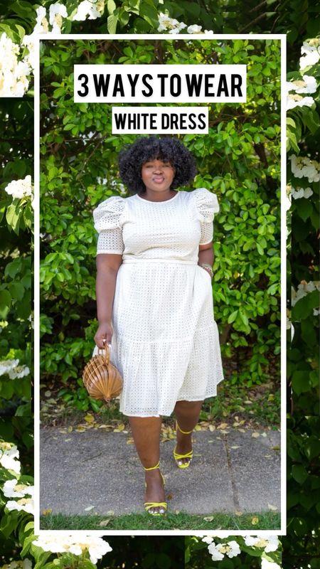 3 ways to wear a white summer dress from @targetstyle #plussize #LTKVideo   #BlackGirlMagic #BlackGirlStyle  #LTKunder50 #LTKstyletip #LTKcurves #LTKSeasonal