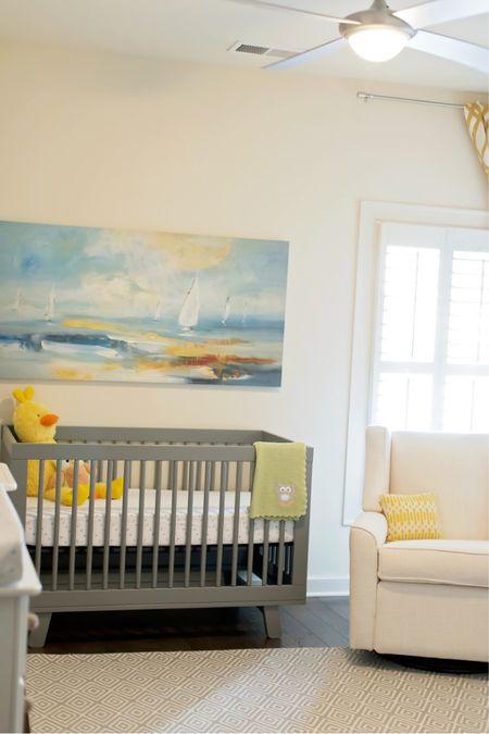 Nursery 💛 Baby boy's room palette of grays, blues, creams and pops of yellow! http://liketk.it/3h7O4 #liketkit @liketoknow.it #LTKDay #LTKbaby #LTKhome