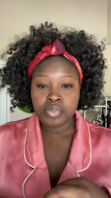 Skincare routine featuring gel cream, unseen Sunscreen, Depuffing I cream Cream, lip sleeping mask, #PlusSize Robe #LTKVideo #LTKSeasonal #BlackGirlMagic #BlackGirlBeauty #BlackGirl #BlackWoman #Summer  #LTKbeauty #LTKcurves #LTKfamily