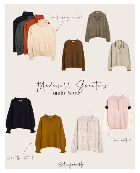 Fall sweaters from Madewell under $100  Fall fashion, lounge, sweaters, turtleneck, fall fashion   #LTKSeasonal #LTKsalealert #LTKunder100