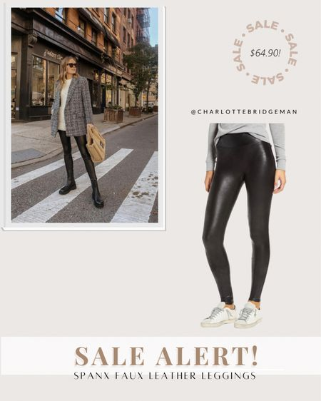 Nordstrom anniversary sale Spanx faux leather leggings are still in stock! I recommend sizing up one size as they run small.  #LTKunder100 #LTKsalealert