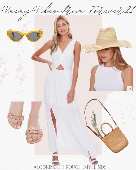 White dress   maxi dress   coverup   sandals   sunglasses   vacation outfits   #LTKtravel #LTKwedding #LTKswim