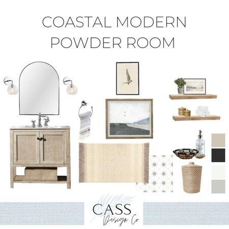 Modern Coastal Powder Room #Powderroom #Coastaldecor #Beachhouse #Neutralhome #californiastyle #powderroomgoals #moderncoastalstyle #coastalfarmhouse  http://liketk.it/3j5Hc #liketkit @liketoknow.it