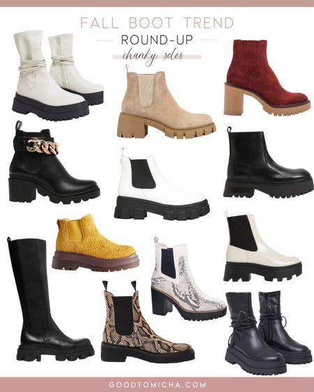 Chunky sole boots on trend for fall   #LTKeurope #LTKshoecrush #LTKunder100