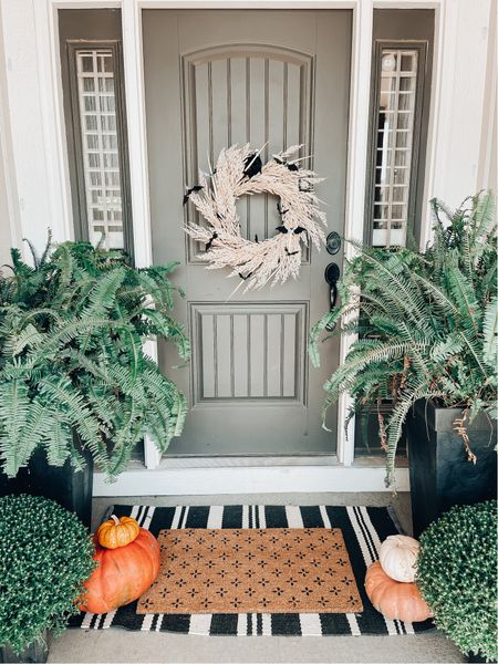 It might be five thousand degrees outside but I'm decorating for fall dang it!   Shop my fall wreath faves and door mat combos when you follow me on LTK!     #LTKSeasonal #LTKHoliday #LTKhome