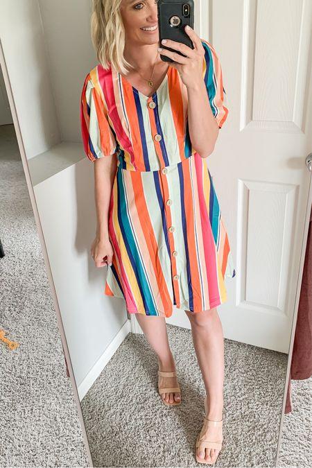 Colorful striped Amazon dress.   #LTKstyletip #LTKunder50