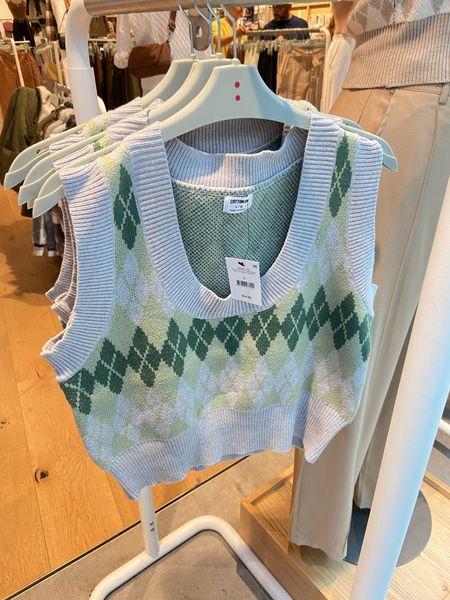 Argyle sweater vest top, fall tops, fall fashion, fall fashion trends, fall trends 2021   #LTKSeasonal #LTKunder50 #LTKstyletip