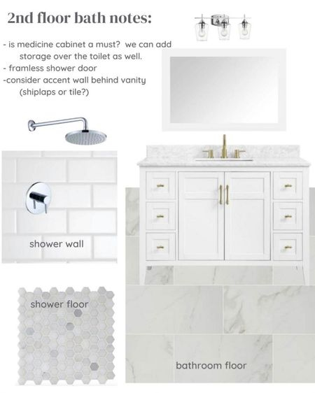 I was working with someone who wanted a reasonably priced bathroom renovation with marble look flooring, chrome fixtures, and a white vanity. Sharing my suggestions below in case you are looking for the same.     @liketoknow.it #liketkit http://liketk.it/3iIrx  #LTKhome #LTKstyletip #LTKunder50   Home renovation, bathroom design