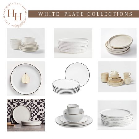 White plate collections that work for any decor style + season  White plates   stoneware   crate and barrel   Amazon home   project 62   Leanne Ford   hearth and hand kitchen   dinnerware   China   #LTKstyletip #LTKsalealert #LTKhome