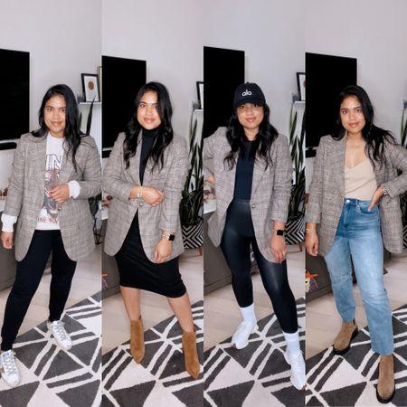 Oversized blazer 4 ways!! Fall outfits, everyday style // fall trends    #LTKSeasonal #LTKstyletip #LTKunder100