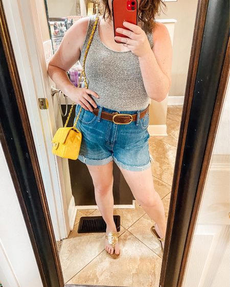 Denim cutoffs styled 3 ways   Shop your screenshot of this pic with the LIKEtoKNOW.it shopping app @liketoknow.it #liketkit http://liketk.it/3i0Ll #LTKcurves #LTKunder50 #LTKstyletip