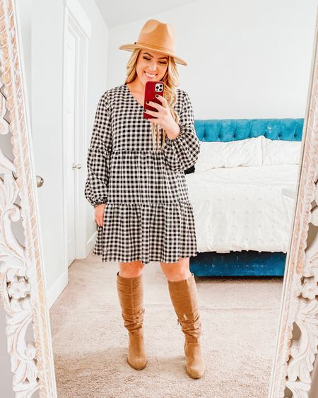"""THIS DRESS🙌🏻 who doesn't love a good gingham?! I am 5'2"""" & it hits just above my knee http://liketk.it/33tIR #liketkit @liketoknow.it #LTKunder50 #LTKstyletip"""