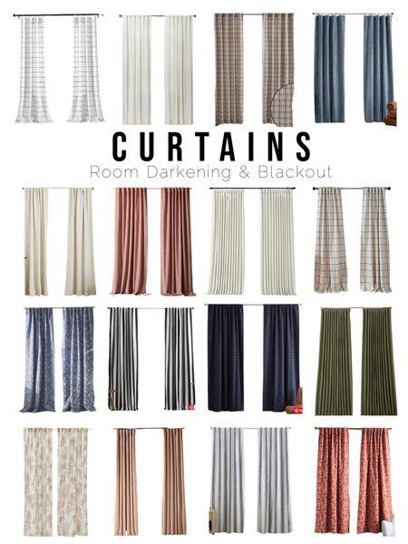 Room darkening & blackout curtains for every budget!  Bedroom curtains, velvet, linen, plaid, stripe, blush, mauve, navy, olive, pinstripe, floral   #LTKunder100 #LTKhome #LTKunder50