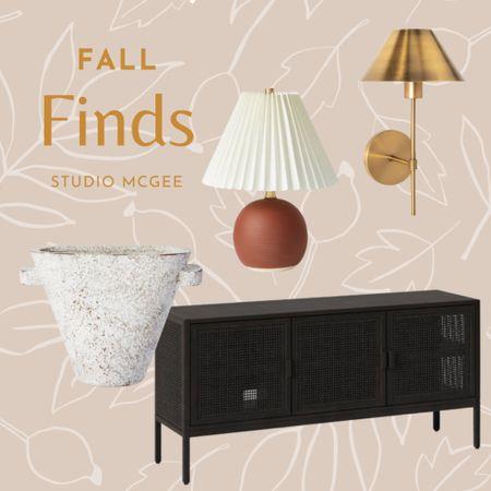 Fall home decor finds, black cane console table, boho fall, terracotta lamp, gold lamp   #LTKstyletip #LTKSeasonal #LTKhome