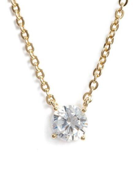 Cz pendant necklace | stone necklace | fashion jewelry | nsale | Nordstrom sale | holiday gifts #LTKunder50 #LTKsalealert #LTKstyletip @liketoknow.it #liketkit http://liketk.it/2VxWa